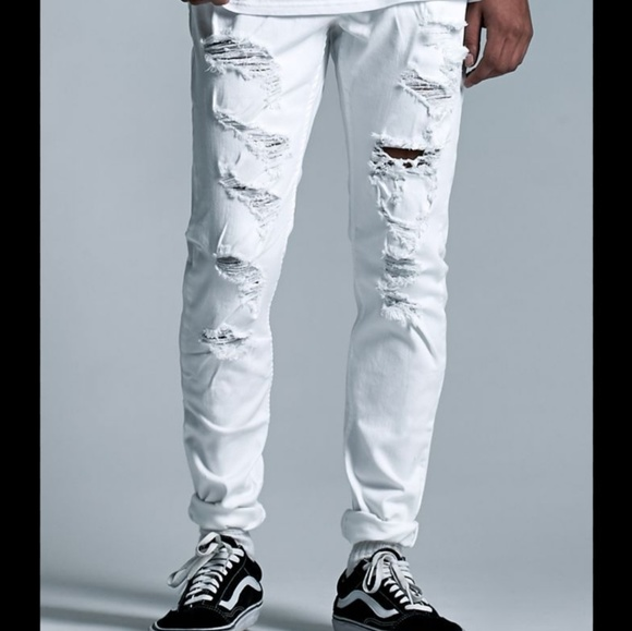 PacSun Other - PacSun white destroyed stacked skinny jeans 32×32